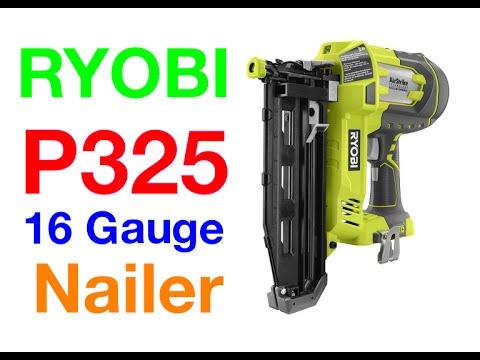 Ryobi 18v P325 16 Gauge Straight Finish Nailer Review