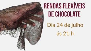 Rendas flexíveis de Chocolate