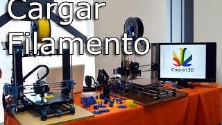 Cómo cambiar, colocar, descargar y cargar filamento a impresora 3D