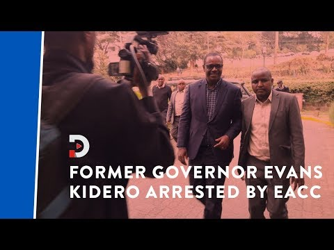 Former Governor Dr Evans Kidero arrested over alleged misuse of public funds
