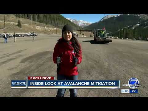 Denver7 crew gets exclusive look into CDOT's avalanche mitigation process