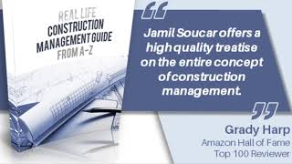 Real Life Construction Management by Jamil Soucar Book Trailer