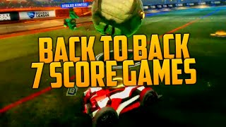 BACK TO BACK 7 SCORE GAMES (Ranked Rocket League)