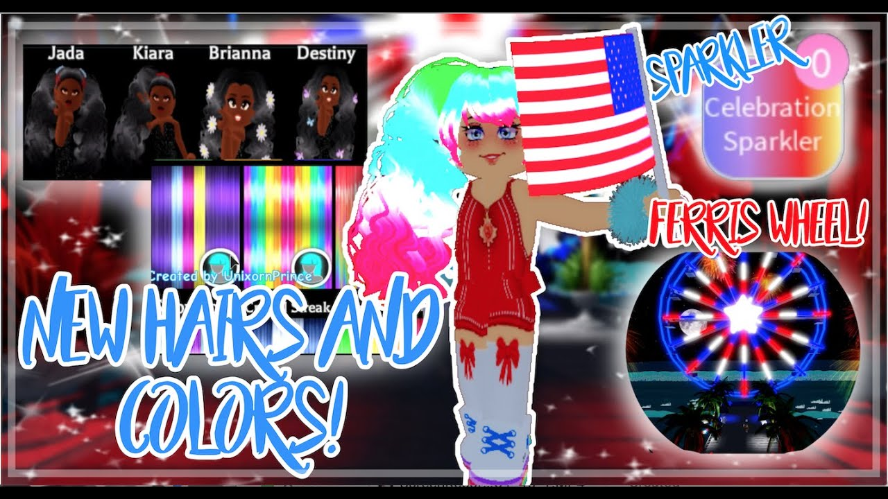 🎊JULY 4th Update Is OUT! FERRIS WHEEL + SPARKLERS! NEW HAIRS, COLORS + MORE! | Royale High 2020