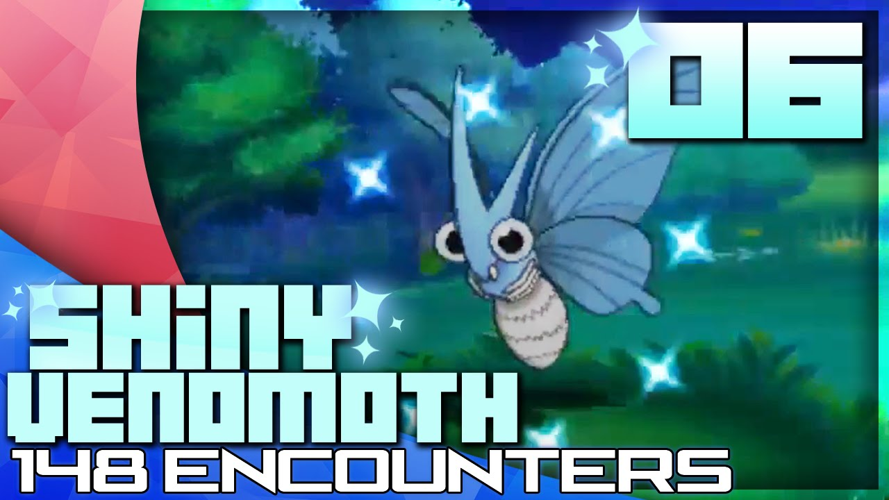 Shiny Venomoth Live Reaction 148 Dexnav Chain