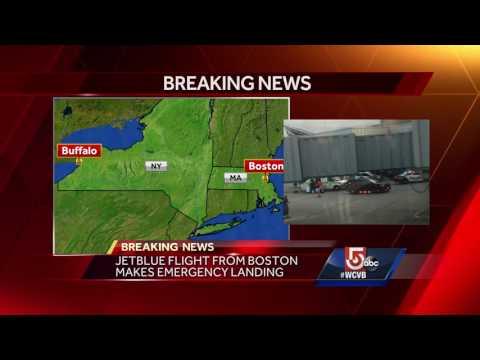 Boston JetBlue lands in upstate NY; pilot, flight attendants hospitalized