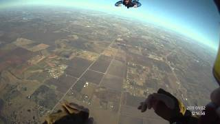 Skydiving - A  license check dive - AFF  diveflow 15