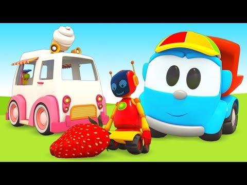 Мультфильмы для маленьких. Грузовичок Лева и друзья собрали Фургон с мороженым!