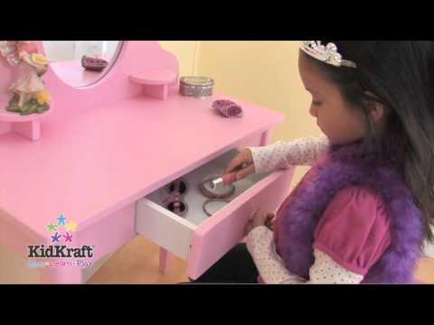 KidKraft Pink Medium Vanity & Stool 13023