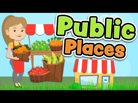Public places in English - Shops and services vocabulary