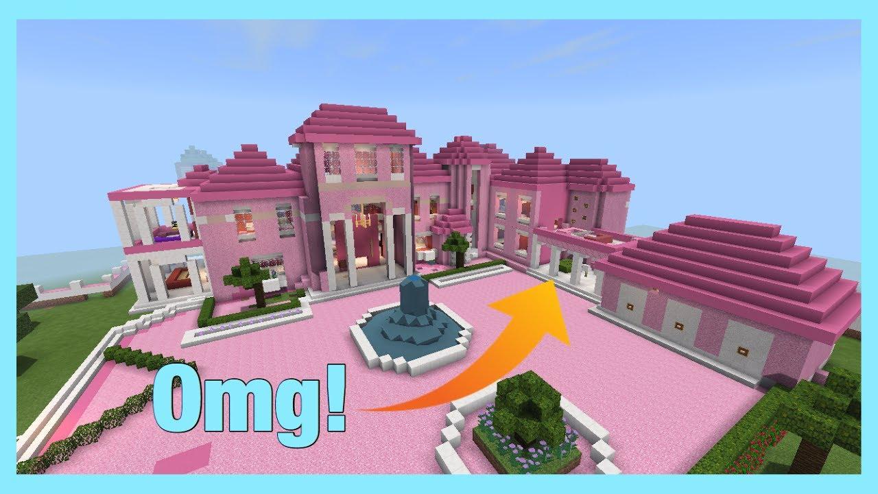 Minecraft/Barbie Dream House Tour (BACKYARD POOL AND ... on Dream House Backyard id=75865