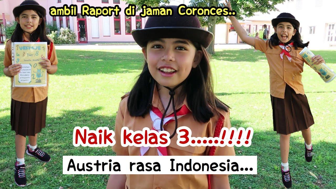 AMBIL RAPORT PAKAI SERAGAM PRAMUKA INDONESIA..NAIK KELAS 3.!