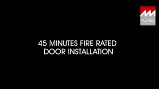 45' Fire Rated Door Installation