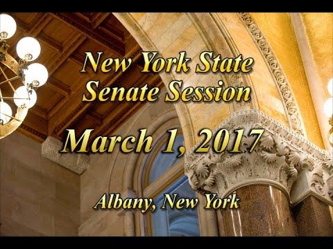 New York State Senate Session - 03/01/17