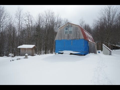 Cabin & Guest cabin winter visit - Shooting Glock 30 & Springfield Armory xDM 45 - 3-3-2013