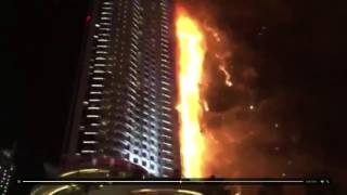 Fire at the Address hotel   Dubai