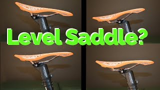 Saddle should be level....Or should it? | What's the correct saddle tilt?