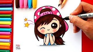 Aprende a dibujar una Chica Kawaii con Gorra | How to Draw a Cute Girl with Strapback Cap