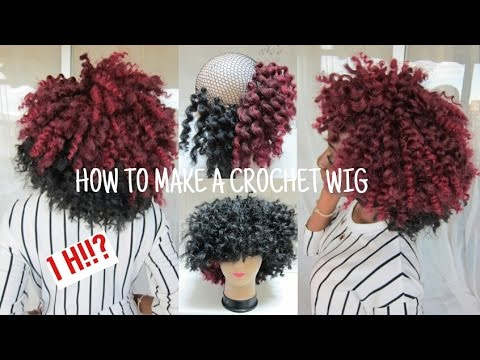 How To Make A CROCHET WIG / Two Tone Curly Afro Wig