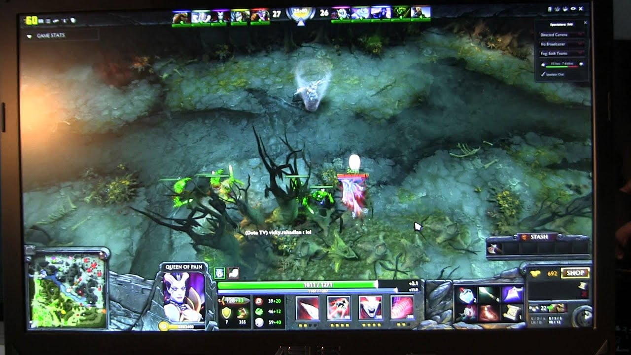 asus g750jx dota2 game play with fps youtube