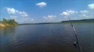рыбалка на реке в проводку