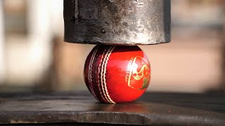 Leather Cricket Ball VS Hydraulic Press |