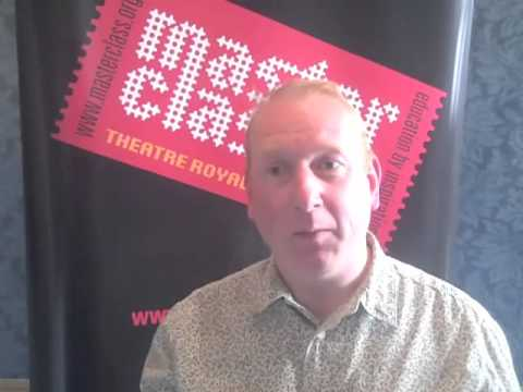 Adrian Scarborough after his masterclass