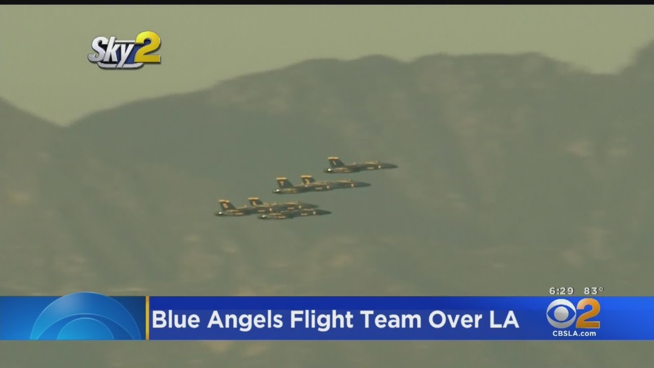 blue angels fly over los angeles