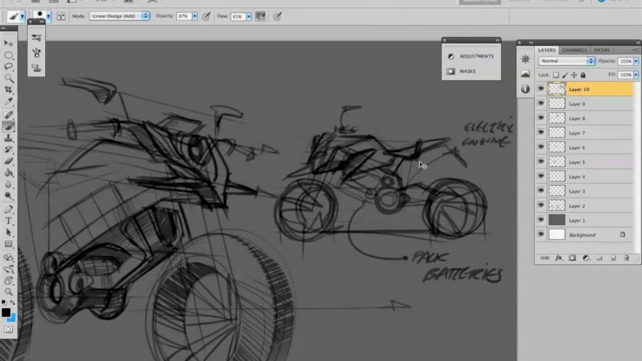 Demo Sketch Motorbike - YouTube