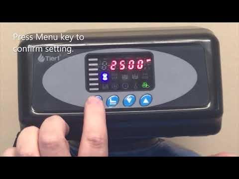 How To Program A Tier1 165-150 48,000 Grain Water Softener Valve