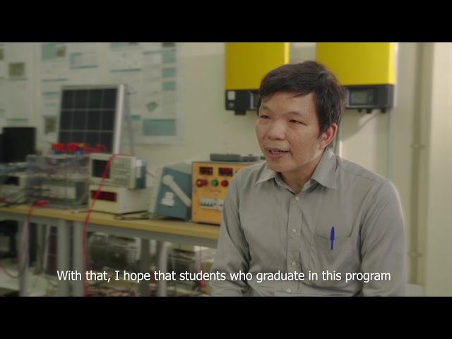 Professor Kim Bunthernon ITC's Solar tuk-tuk