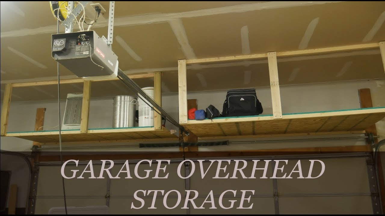 Easy Diy Overhead Garage Storage Rack Youtube