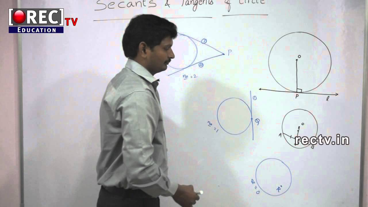 Secant And Tangents Of Circle 10 Th Maths Tutorial Sscicsecbse