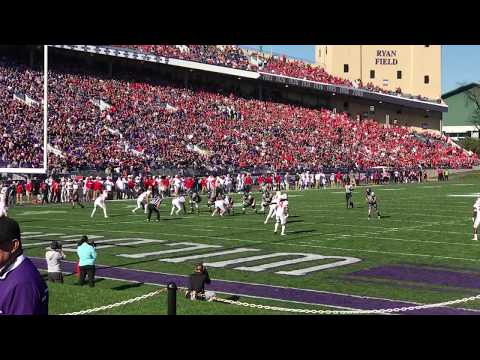 Northwestern University Wildcats football scores a touchdown against Wisconsin - November 5, 2016