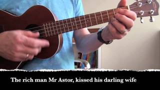 Tempest - Dylan cover for uke (with lyrics and chords)