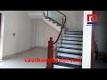 Cầu thang kính 2 nẹp inox hình quả chám thi công tại Đông Anh - Hà Nội mp3 indir