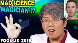 Magician REACTS to Horret Wu color changing cards on Penn and Teller FOOL US 2019