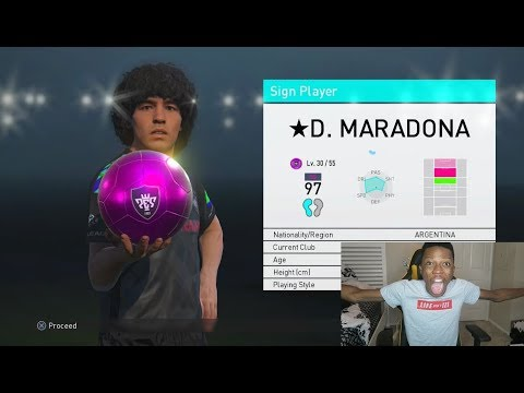 OMG ICON MARADONA IN A PACK!! PES 2018 PACK OPENING