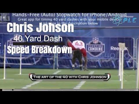 Chris Johnson 40 Yard Dash Speed Breakdown