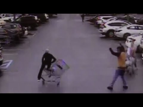 CAUGHT ON CAM: Georgia Walmart customer throws cart into shoplifter to help police