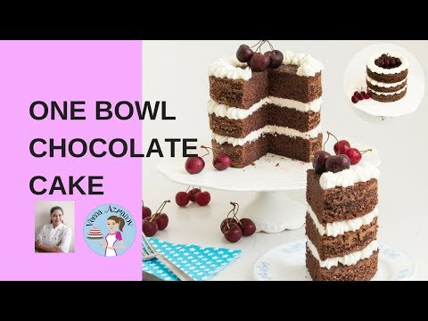 One Bowl Chocolate Cake Recipe | Quick Moist Chocolate Cake