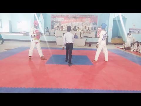 GOPALGANJ DISTRICT TAEKWONDO CHAMPIONSHIP 2017 GOPALGANJ CHUB vinit kumar fight