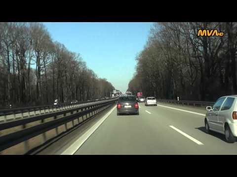 Fahrt Von Potsdam Nach Berlin über Die A115 (Avus)