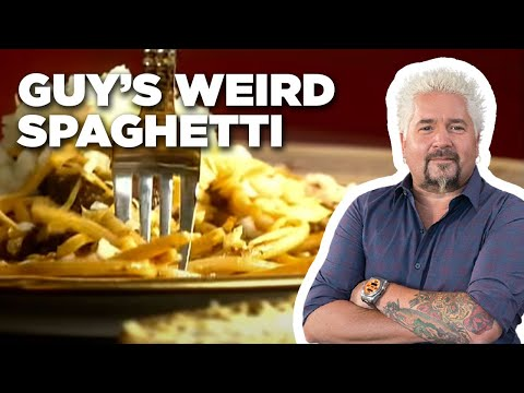 Guy Fieri Makes Weird Spaghetti | Food Network