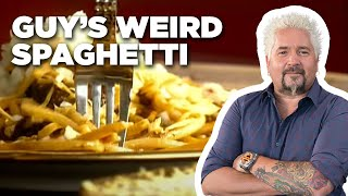 Guy Fieri Makes Weird Spaghetti | Food Network