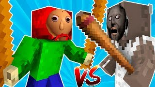ГРЕННИ ПРОТИВ БАЛДИ ШКОЛА МОНСТРОВ В МАЙНКРАФТ НОВАЯ АНИМАЦИЯ minecraft baldi vs granny Animation