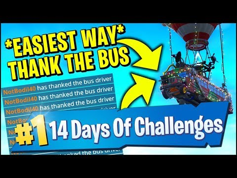 thank the bus driver in different matches day 11 fortnite 14 days of christmas - how do you think the bus driver on fortnite on ps4