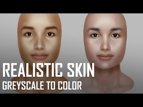 Critique Hour! Realistic Tan Skin--Greyscale to color!