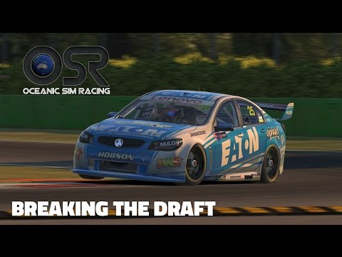 iRacing: Breaking the Draft (V8 Supercar @ Monza)