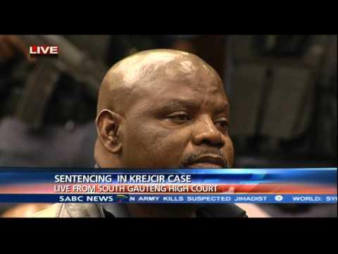 Judge Colin Lamont passing sentence in the Krejcir case